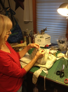 At work in my sewing room