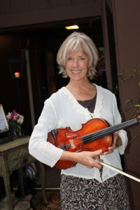 Me with my violin. I had just played at a wedding with my husband, Jeff.